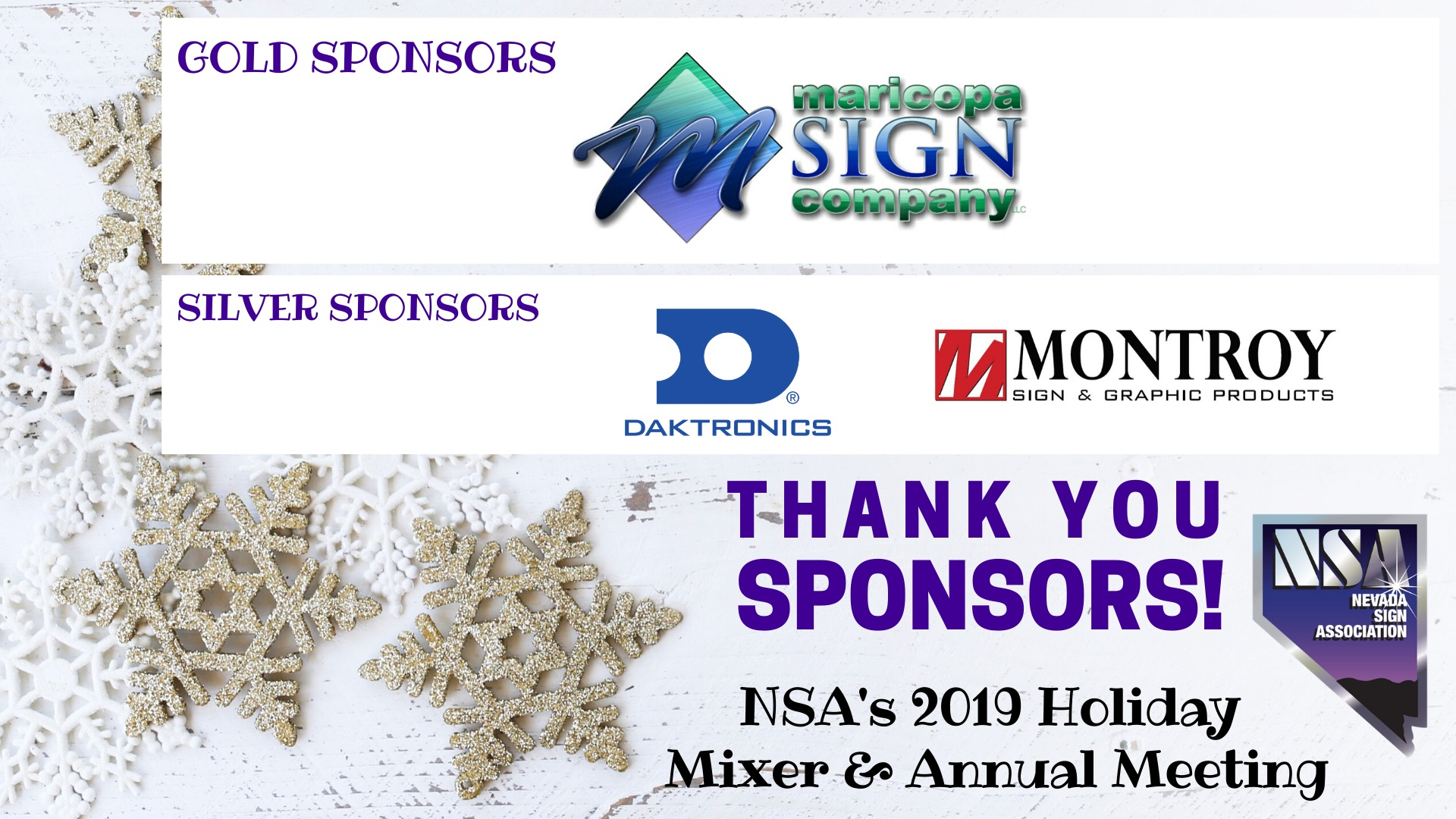 Nsa Holiday Sponsors Thank You Flyer
